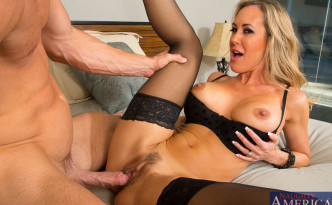 He drops his huge load into Brandi's Love mouth (3)